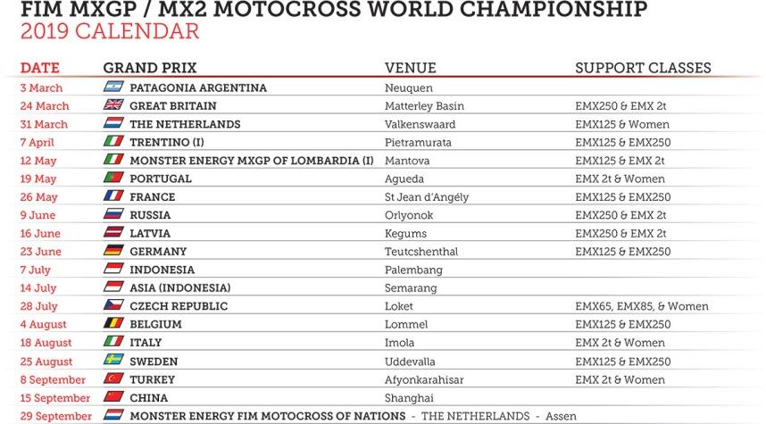 Calendario Mxgp 2020.Mundial De Motocross Altera Calendario De Novo Mxgp De Hong